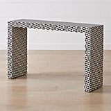Ursula: Intarsia Black Console Table