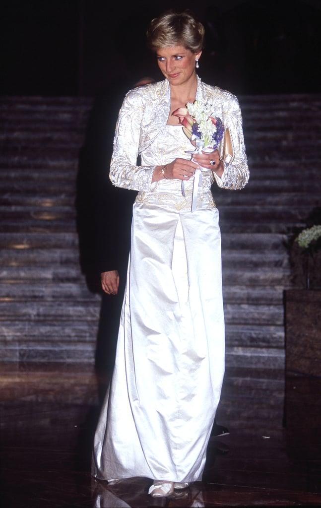Princess Diana's White Gown