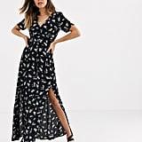 Miss Selfridge Maxi Tea Dress in Black Floral