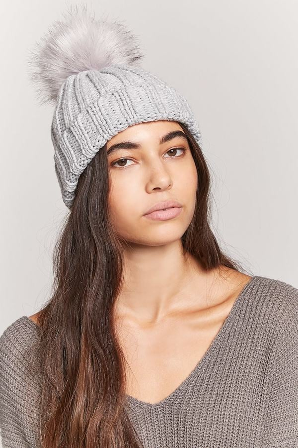 fefe6d700fb40a Forever 21 Ribbed Pom-Pom Beanie   Cheap Gifts From Forever 21 ...