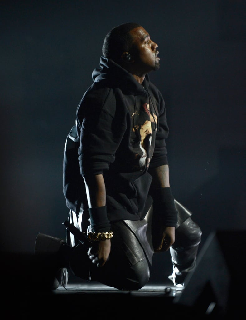 Kanye West gave an emotional performance.