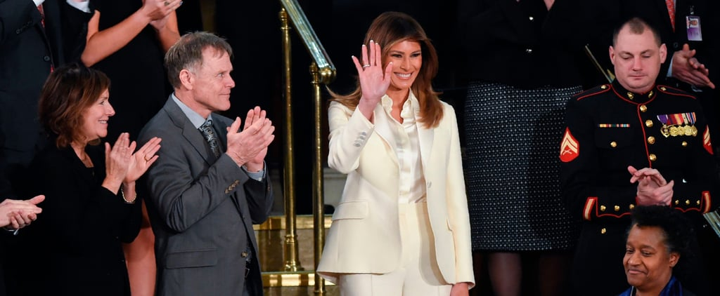 Melania Trump's White Dior Suit at State of the Union 2018