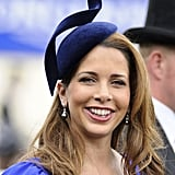 Princess Haya of Jordan attended the 2012 Royal Ascot wearing this unique indigo fascinator.