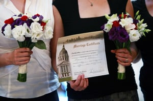 Same-sex Marriage Ban Leading in California