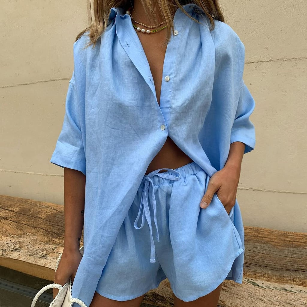 An Effortless Blouse and Shorts Set
