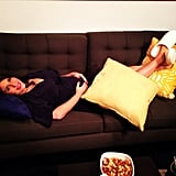 Pregnant Soleil Moon Frye kicked back and relaxed before a photo shoot. Source: Instagram user moonfrye