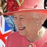 Queen Elizabeth was all smiles in Birmingham.