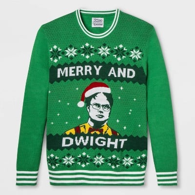 Merry and Dwight Christmas Sweater
