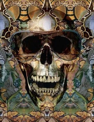 Alexander McQueen Eyewear Spring '10 Ads With Skull