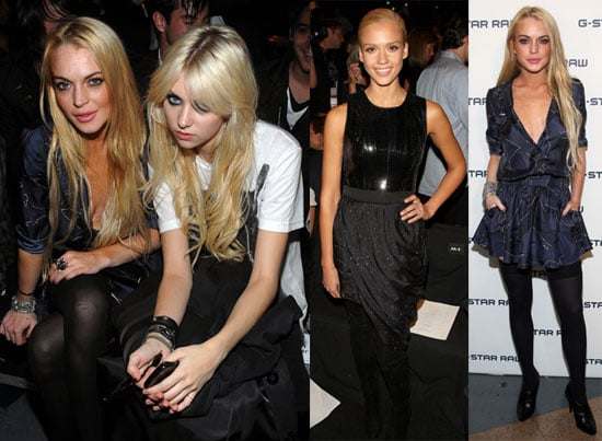 Photos of Lindsay Lohan, Jessica Alba, Taylor Momsen At NY Fashion Week Shows