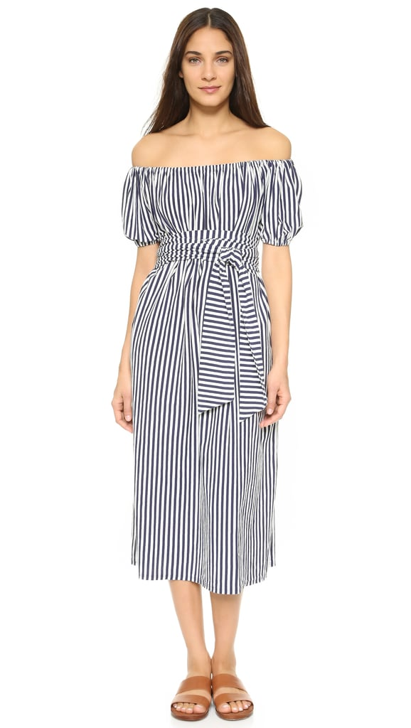 MDS Stripes Marina Off Shoulder Dress ($225)