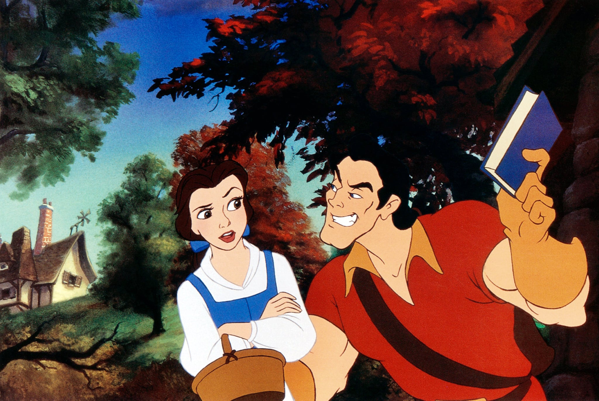 BEAUTY AND THE BEAST, from left: Belle, Gaston, 1991. Buena Vista Pictures/courtesy Everett Collection