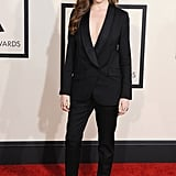 A Buttoned-Up Black Suit Sans Shirt Is Just as Sexy as a Low-Cut LBD