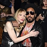 Pictured: Lenny Kravitz and Courtney Love