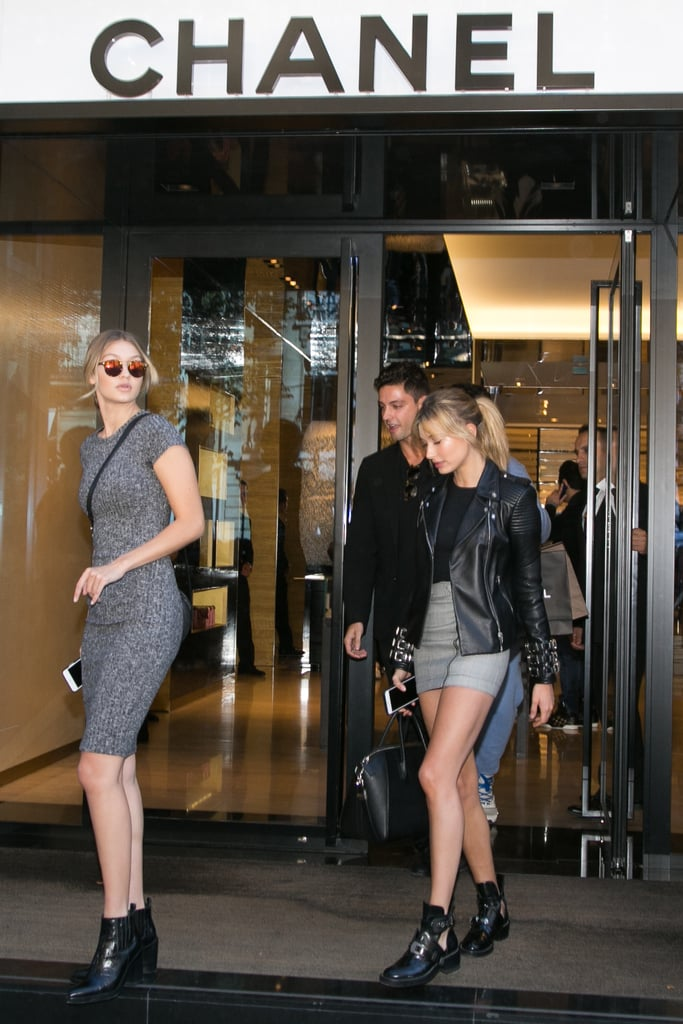 Gigi went on a quick shopping trip with Hailey Baldwin at Chanel.