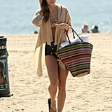 AnnaLynne McCord packed up and headed home.