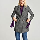 Zara Double-Breasted Checked Blazer