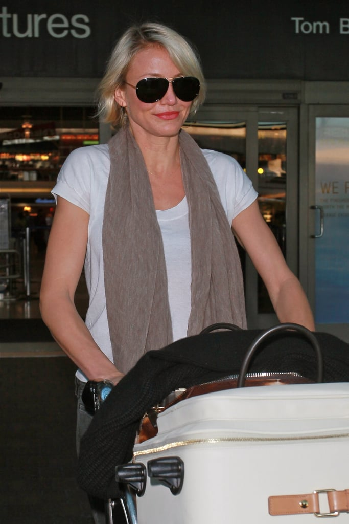 Cameron Diaz was home in LA from Europe.