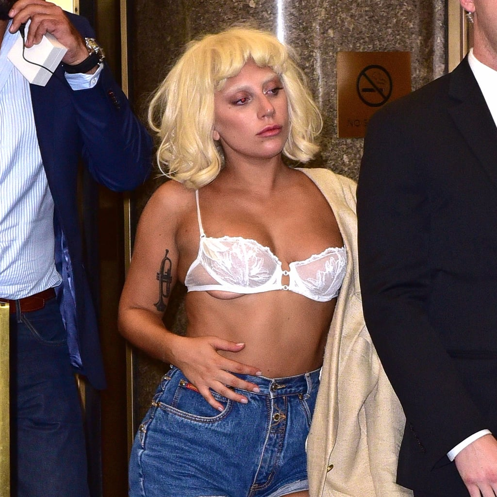 Lady Gaga Straight Up Wore a Bra as a Top in NYC