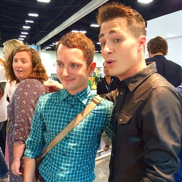 """Had a mega fan moment. Elijah friggin Wood,"" Colton Haynes captioned this snap. Source: Instagram user coltonlhaynes"