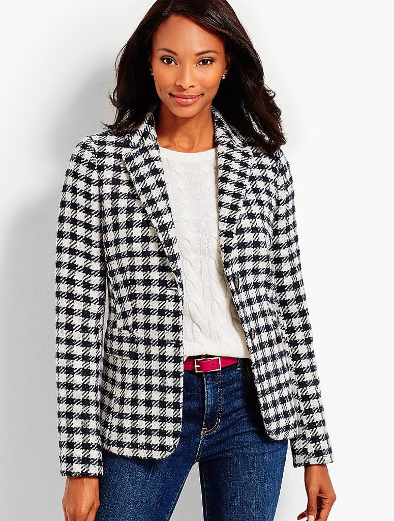 Talbots's Checked Blazer