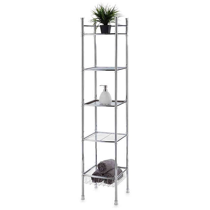 No Tools Five Tier Tower in Chrome