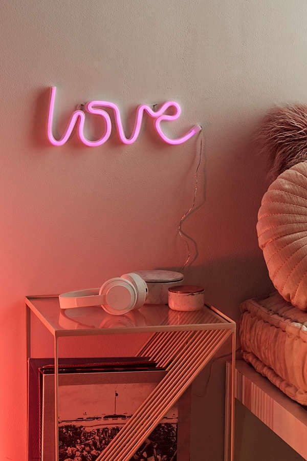 Urban Outfitters Love LED Neon Sign | What to Shop | Jan  29 - Feb