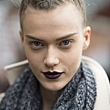 Model Tess Hellfeuer also showed her fresh-from-the-runway look. Source: Le 21ème | Adam Katz Sinding