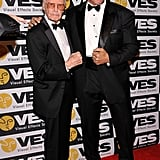Stan Lee joked around with Lou Ferrigno at the Visual Effects Society Awards.