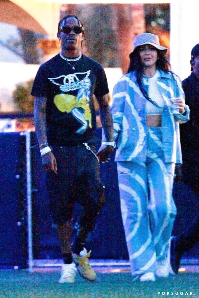 Travis Scott and Kylie Jenner at Coachella 2019