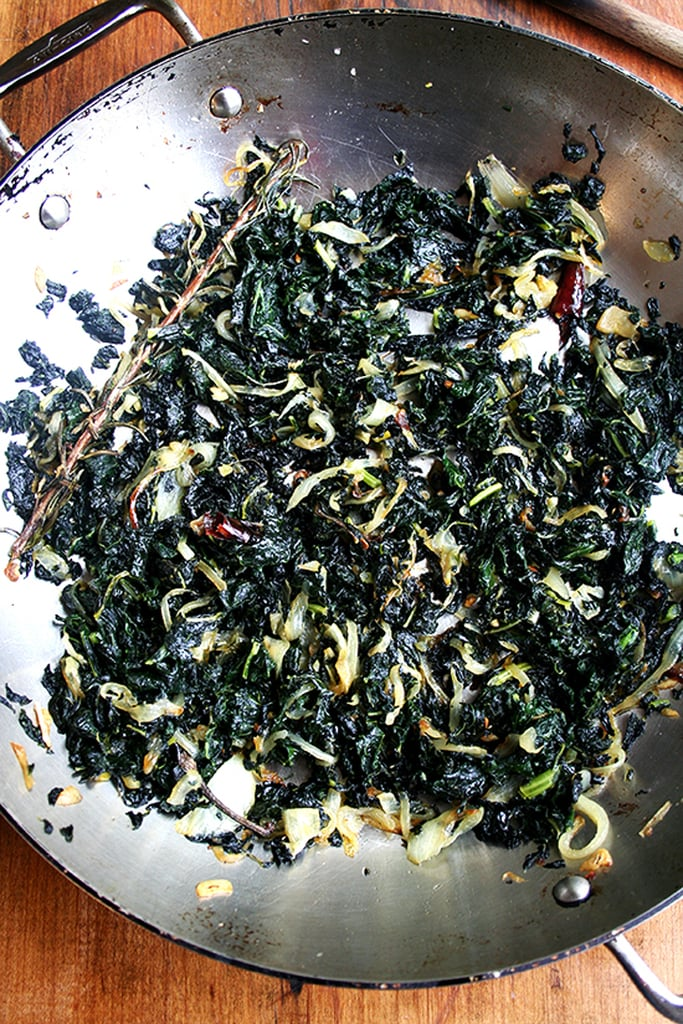 Slow-Cooked Kale With Rosemary, Garlic, and Onion