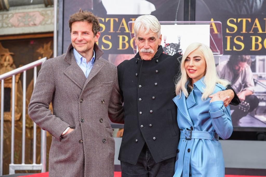 Lady Gaga Blue Leather Trench Coat