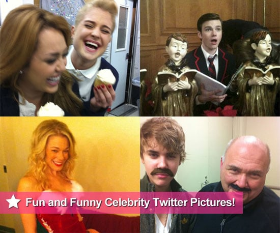 Celebrity Twitter Pictures Including Justin Bieber, Miley Cyrus, Chris Colfer and LeAnn Rimes