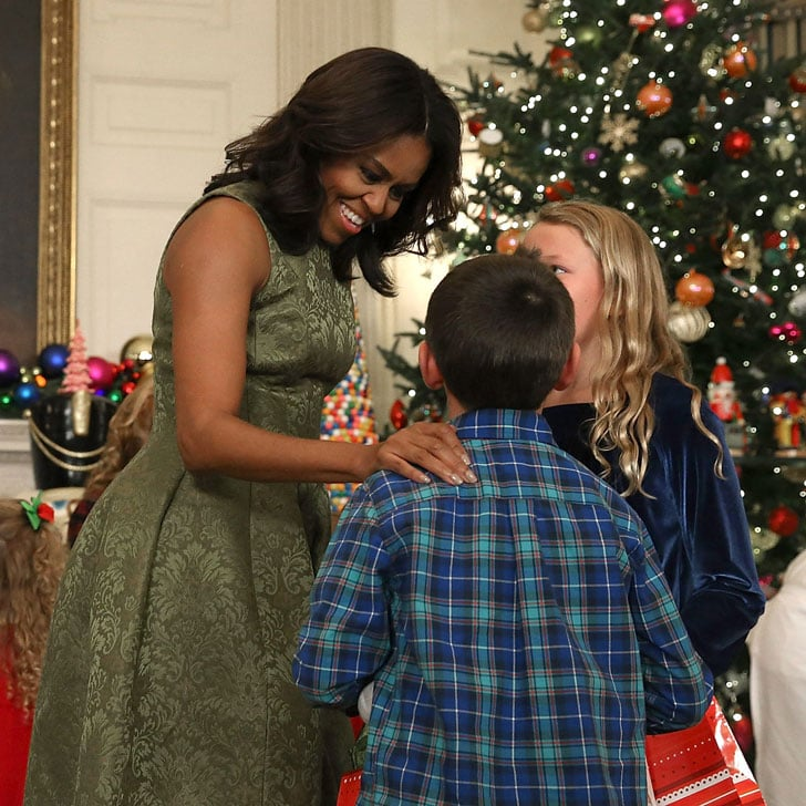 michelle obama white house christmas decorations 2015 popsugar celebrity
