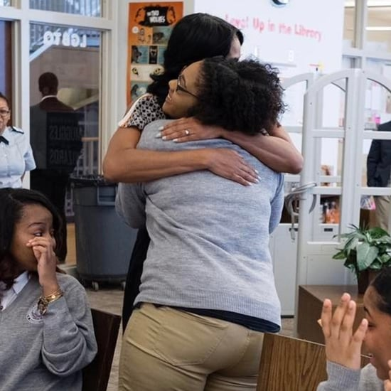 Michelle Obama Surprises School on International Women's Day