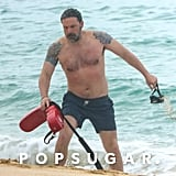 Ben Affleck Shirtless in Hawaii March 2018