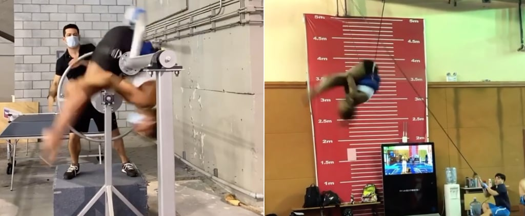 Watch Video of Olympic Diver Jennifer Abel Dry-Land Training