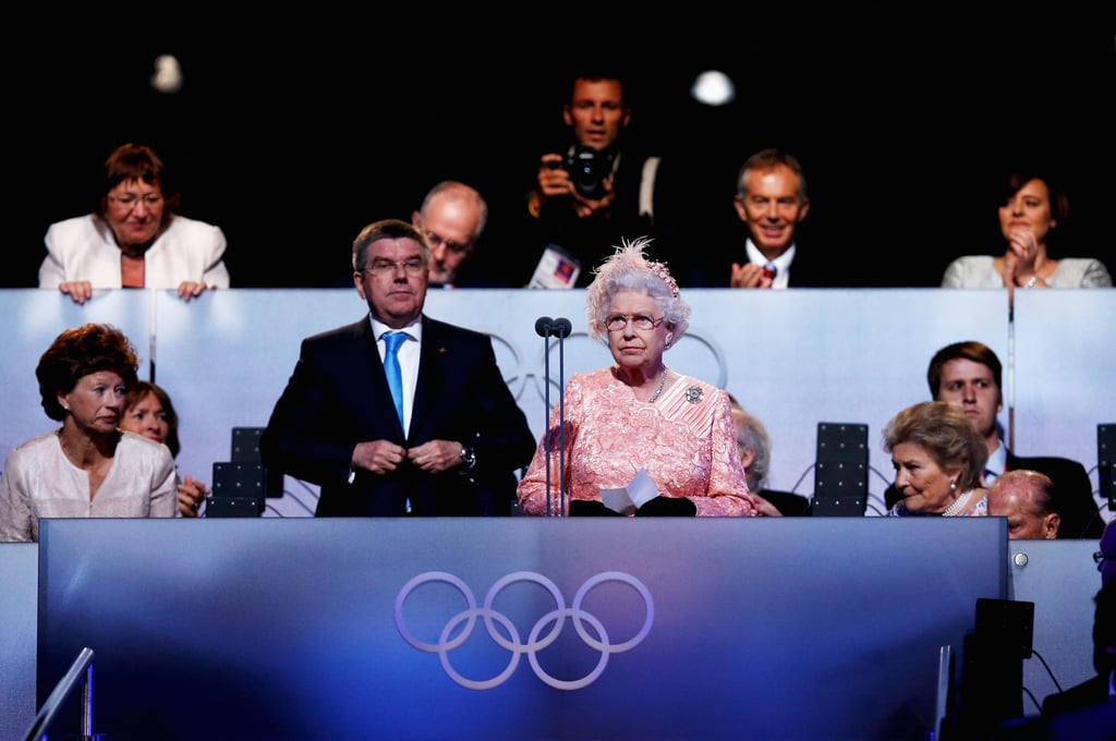 Attending the opening ceremony for the Olympic Games in 2012.