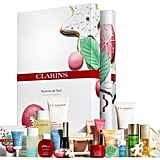 Clarins (£95)  This 24-door delight is worth over £146 featuring Instant Light Lip Comfort Oil, HydraQuench Intensive Serum Bi-Phase, and Bag accessories.