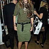 J.Crew's Jenna Lyons clearly knows how to wear Fall's green trend.
