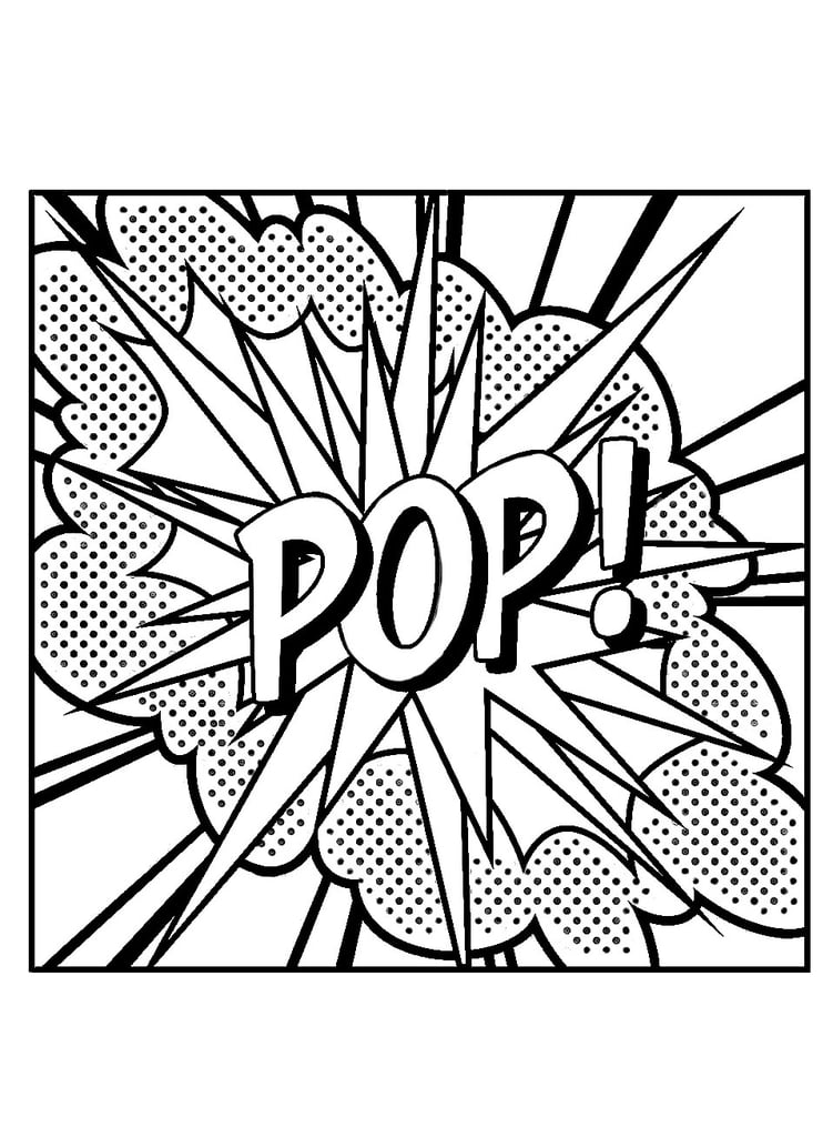 Get the coloring page: Pop Art