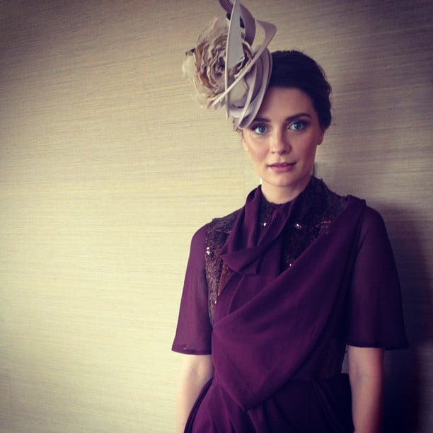 Mischa Barton has picked a plum shade for the Melbourne Cup. Source: Instagram user graziaaus