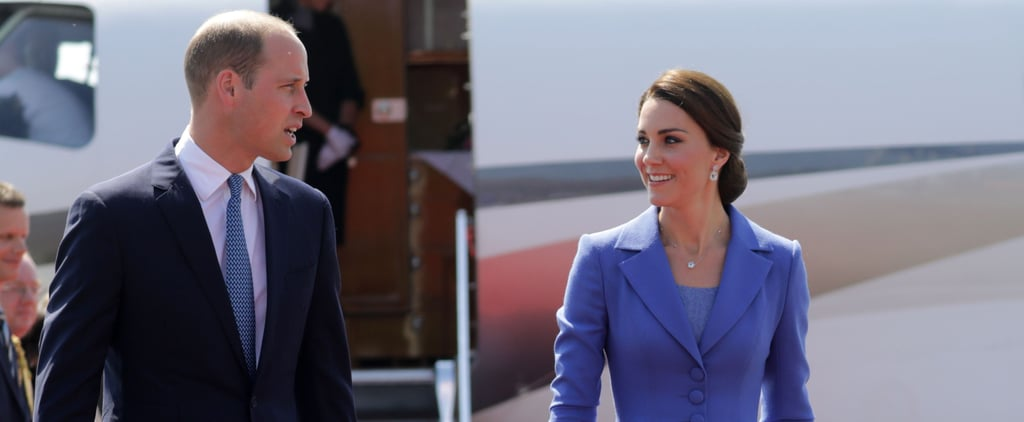 The Duchess of Cambridge and Her Family Arrived in Germany All Dressed in Blue