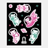 Space Cat Stickers ($5)