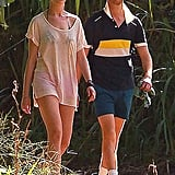 The couple also went for a hike in Hawaii.