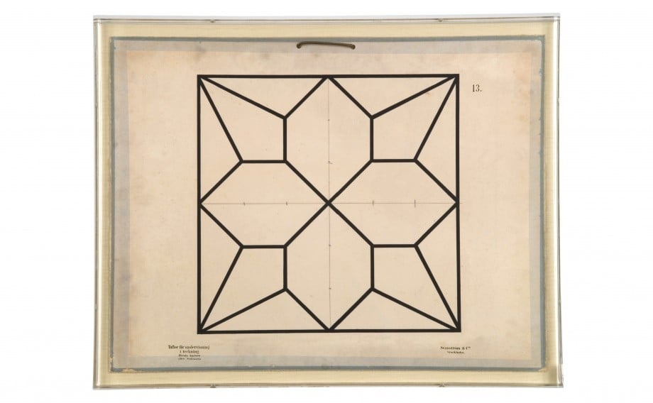 This Baptiste Geometric #1 ($1,000) is a reproduction of educational plates used to explain the role of geometry in science in 1896.