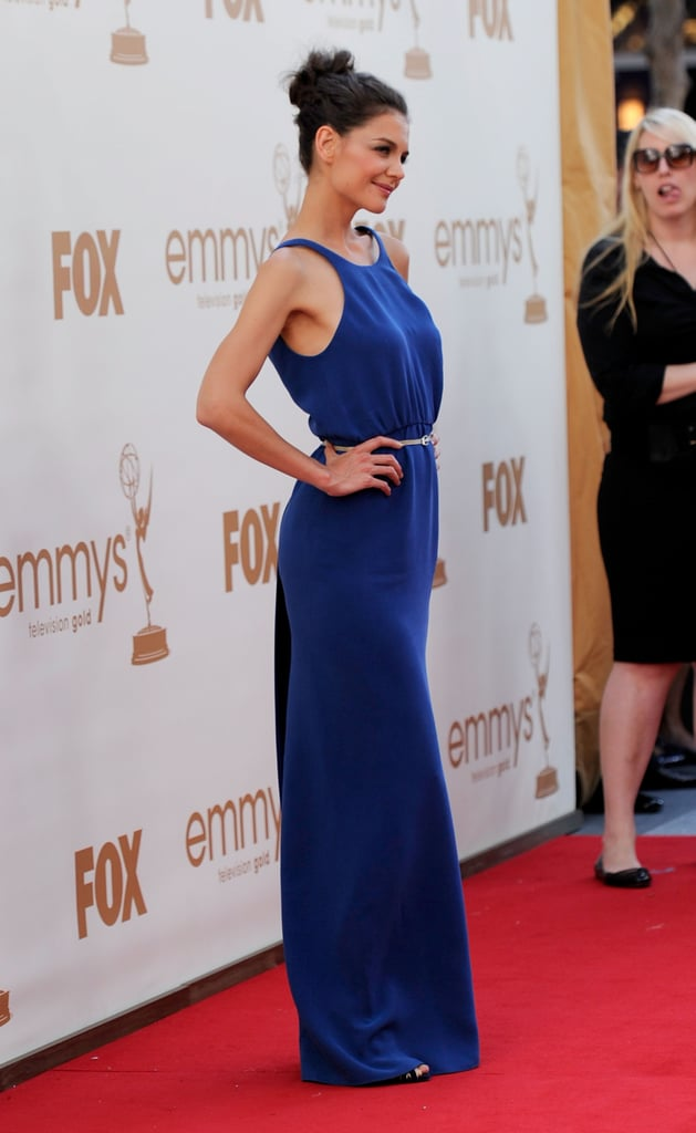 Katie Holmes in Calvin Klein at the 2011 Emmy Awards.