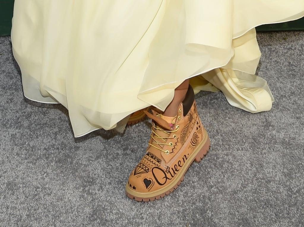 Eris Baker Wearing Timberland Boots at the 2019 SAG Awards