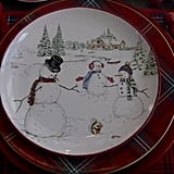 How cute are these snowmen plates she used in 2016?