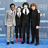 Stranger Things Cast at the 2017 Critics' Choice Awards